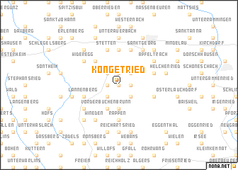 map of Köngetried