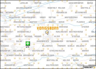 map of Königsborn