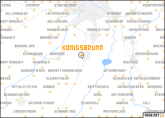 map of Königsbrunn