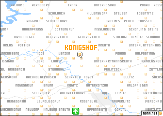 map of Königshof