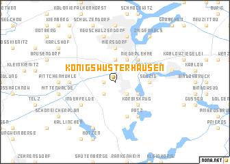map of Königs Wusterhausen