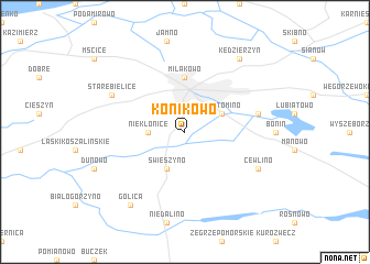 map of Konikowo