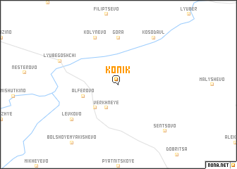 map of Konik