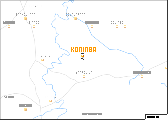 map of Koninba