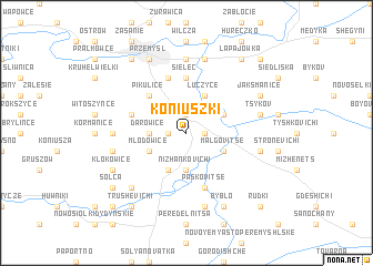 map of Koniuszki