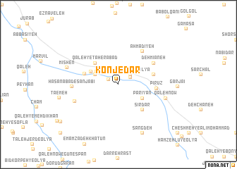 map of Konjedar