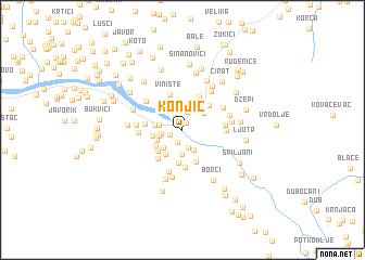 map of Konjic