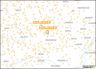 map of Konjoder