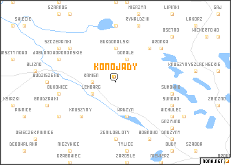 map of Konojady