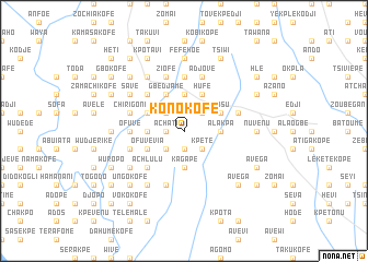 map of Konokofe