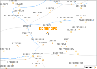 map of Kononovo
