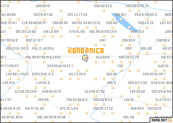 map of Konopnica