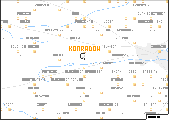 map of Konradów
