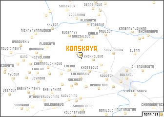 map of Konskaya