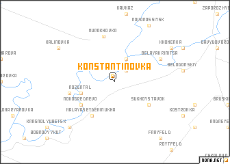 map of Konstantinovka