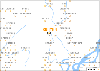 map of Konywa