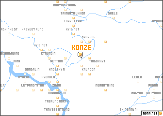 map of Konze