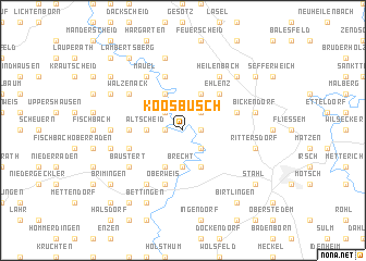 map of Koosbüsch