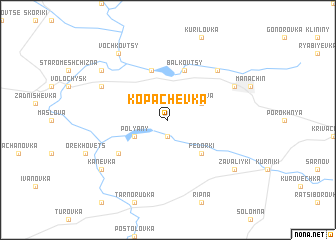 map of Kopachëvka