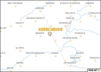 map of Kopachovka