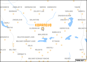 map of Kopanëvo