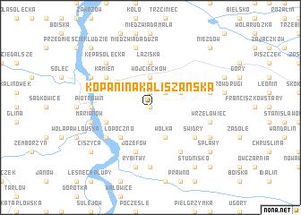 map of Kopanina Kaliszańska
