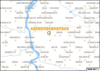 map of Kopanina Kamienska