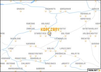 map of Kopczany