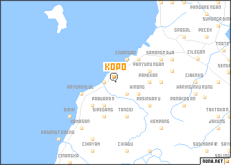 map of Kopo
