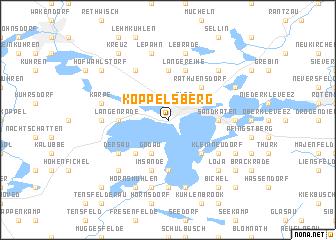 map of Koppelsberg