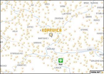 map of Koprivica