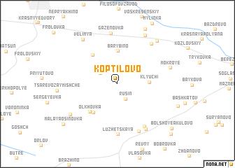 map of Koptilovo