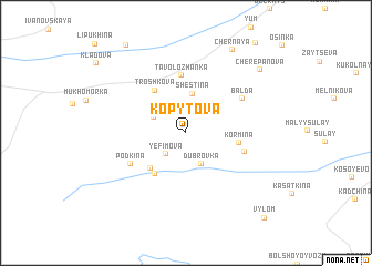 map of Kopytova