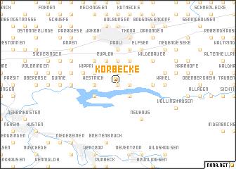 map of Körbecke