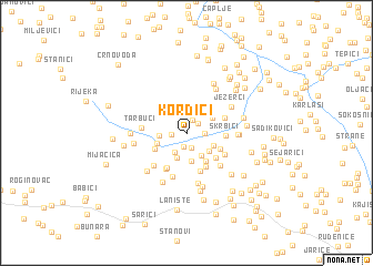 map of Kordići