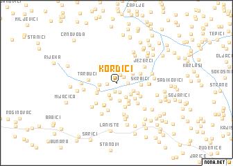 map of Kordići