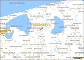 map of Kord Kheyl