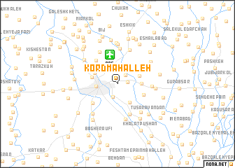 map of Kord Maḩalleh