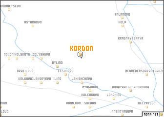 map of Kordon