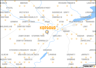 map of Kordowo