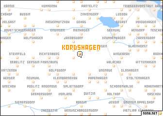 map of Kordshagen