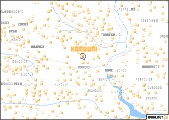 map of Korduni
