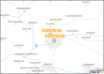 map of Korenëvo