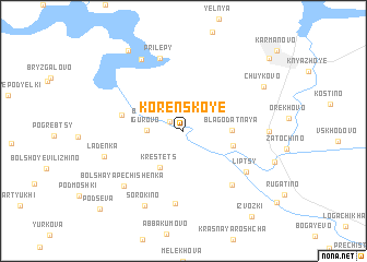 map of Korenskoye
