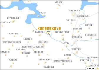 map of Korenskoye