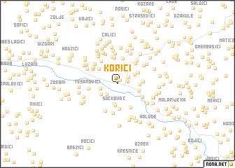 map of Korići