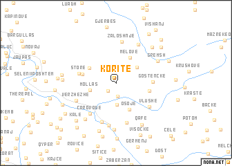 map of Koritë