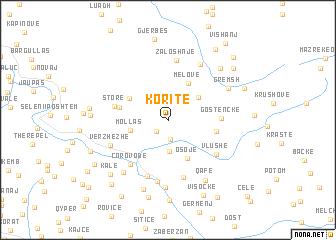map of Koritë