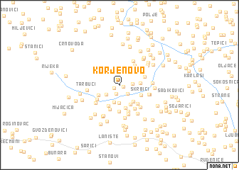 map of Korjenovo