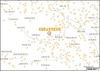 map of Korjenovo